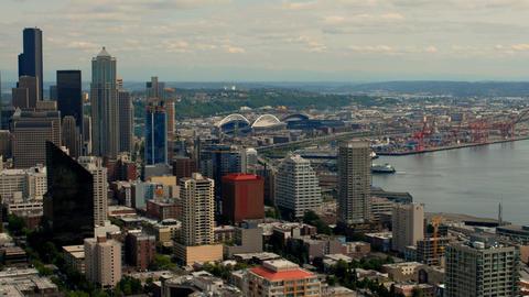 Time-lapse of a city skyline Footage
