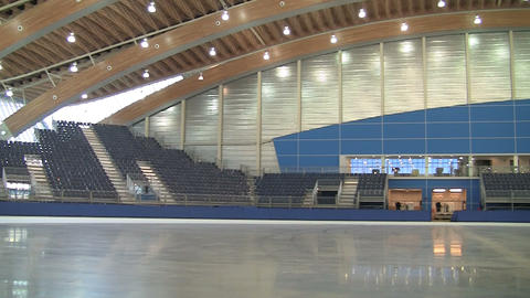 Olympic ice rink in Vancouver Footage