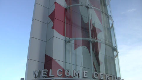 Vancouver's Olympic welcome center Footage