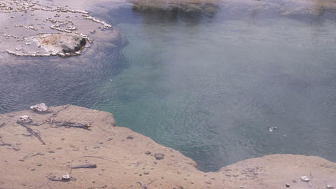 Geothermal feature in Yellowstone National Park Footage