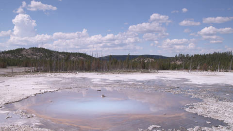 Clip of a geothermal feature in Yellowstone National Park Footage