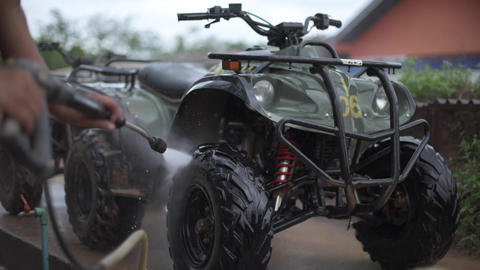 Wash ATV with high pressure Footage