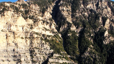 Aerial shot of Provo canyon cliffs Footage