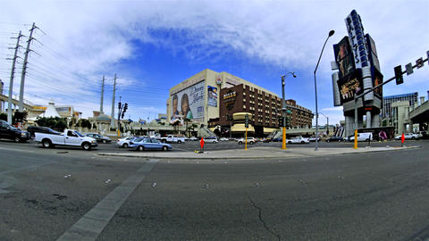 Time-lapse shot of an intersection in Las Vegas Footage