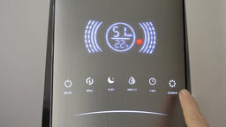 Increasing the power of the air humidifier. Switching on the degerming option ビデオ
