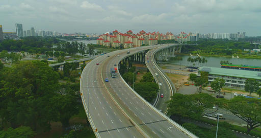 Road transport interchange in Singapore Live影片