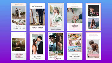 Wedding Instagram Stories After Effects Template