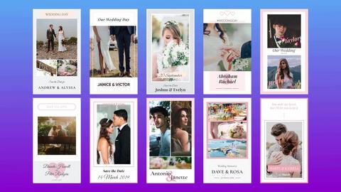 Wedding Instagram Stories Plantilla de After Effects