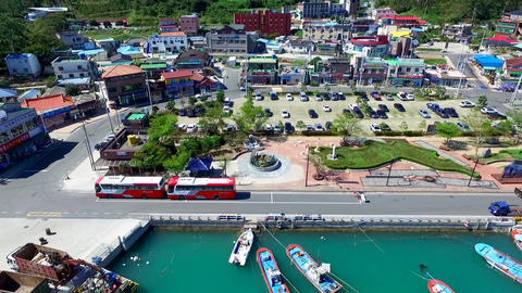 Aerial View of Ttangkkeut Village, Haenam, Jeollanamdo, South Korea, Asia Footage