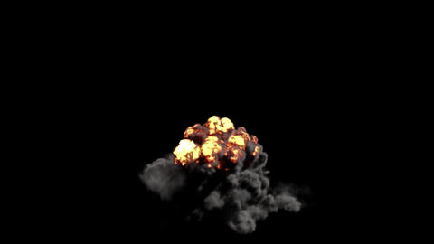 Fast Burst Of Fire Explosion Animation