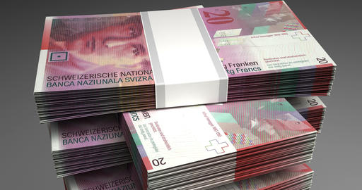 Stack of Swiss Franc Animation