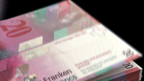 Counting Swiss Franc Animation