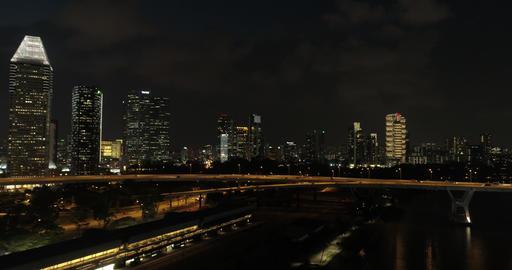 Car overpass bridge in Singapore Live影片