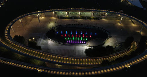 Architectural structure of Singapore at night Live Action