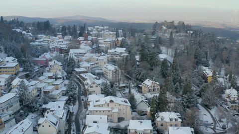 Upper Badenweiler aerial with castle ビデオ