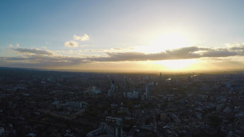 Central London panorama view from The Shard observation deck Footage