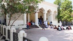 Muslims attend prayer in the mosque ビデオ