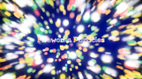 Fireworks Particles Slideshow After Effectsテンプレート