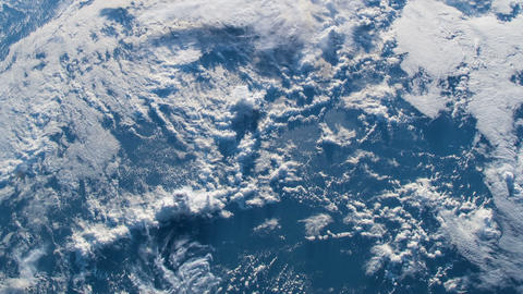 Time lapse of the view of clouds over Earth form a satellite. Weather and Animation