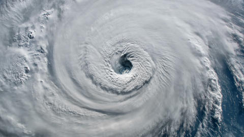 Satellite view.Timelapse animation of the eye of the hurricane Florence over the Animation