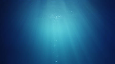 Underwater Sunlight beams from above Live Action