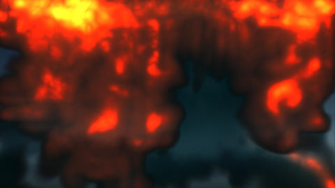 A huge explosion erupts followed by smoke Footage