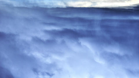 A peaceful view of high altitude blue sky and clouds. Footage