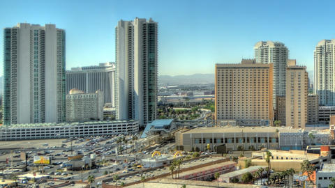 Time-lapse static shot of Las Vegas skyline Footage