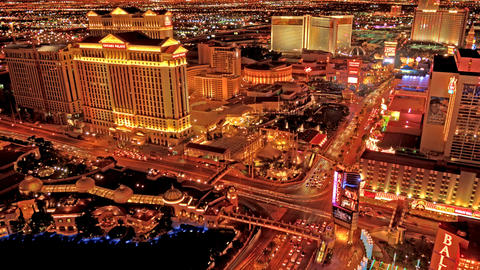 Static timelapse from the top of the Paris Hotel's Eiffel Tower in Las Vegas Footage