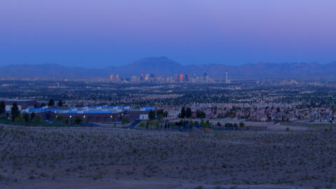 Static Las Vegas at early morning Footage