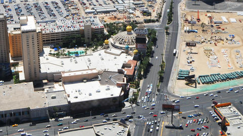 Timelapse of the Sahara Hotel from the Stratosphere Hotel Footage