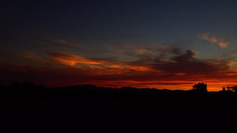 Time-lapse of sunset in Utah Footage