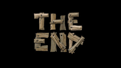 """Wooden nails and rough boards form the words """"The End."""" Live Action"""
