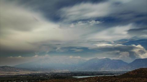 Time-lapse shot of the mountain range in Utah Footage
