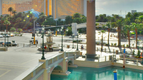A sped up, cropped shot of the venitian brige in Las Vegas, Nevada Footage