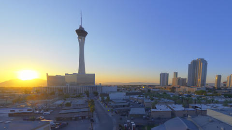 sped-up still shot of the stratosphere tower in las vegas Live Action