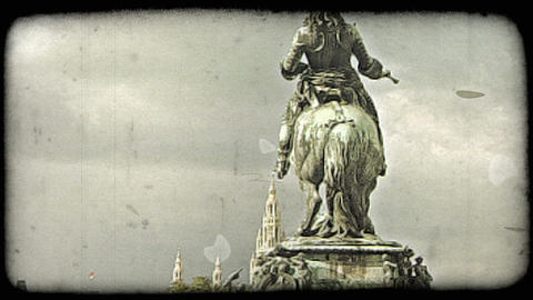 Vienna Statue 11. Vintage stylized video clip Live Action