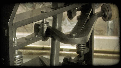 Old printing press. Vintage stylized video clip Footage