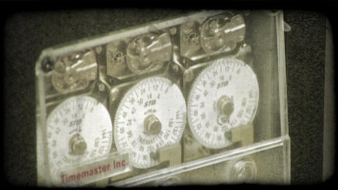 Vault dial mechanism. Vintage stylized video clip Footage