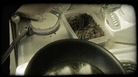 Cook prepares tacos. Vintage stylized video clip Footage