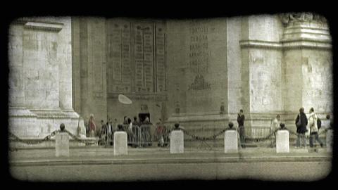 Arc de Triumph 2. Vintage stylized video clip Footage