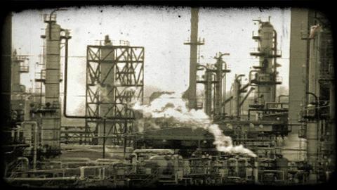 Kuwait oil refinery 5. Vintage stylized video clip Live Action