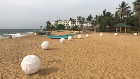 On the beach in Mount Lavinia Hotel GIF