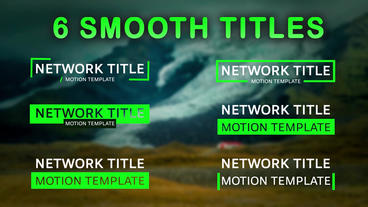 Smooth Reveal Corporate Titles Motion Graphics Template