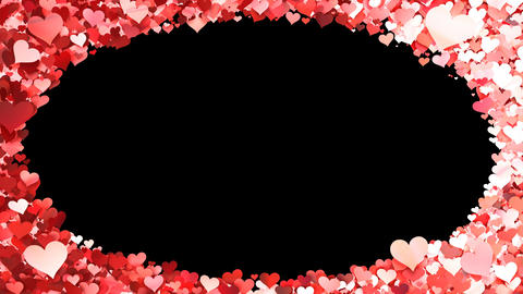 Glitter Heart Frame 1 Dh Red Animation