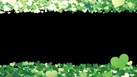 Glitter Heart Frame 1 Sh Green Animation