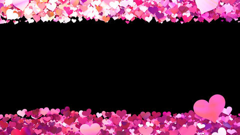 Glitter Heart Frame 1 Sh Pink Animation