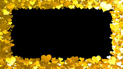Glitter Heart Frame 1 Bh Gold Animation