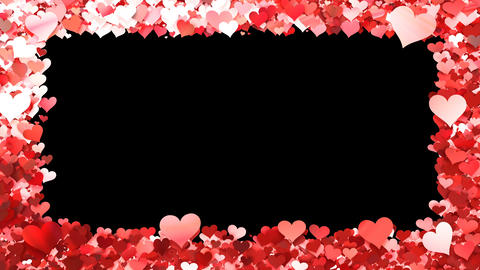 Glitter Heart Frame 1 Bh Red Animation