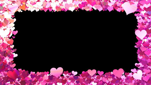 Glitter Heart Frame 1 Bh Pink Animation